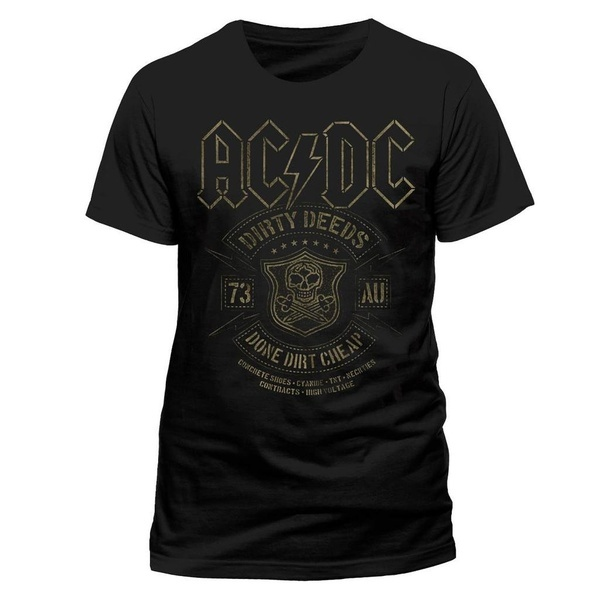 ACDC Dirty Deeds Done Cheap Rock Tee T-Shirt Top Clothing Mens Summer Casual Man T Shirt Good Quality ...
