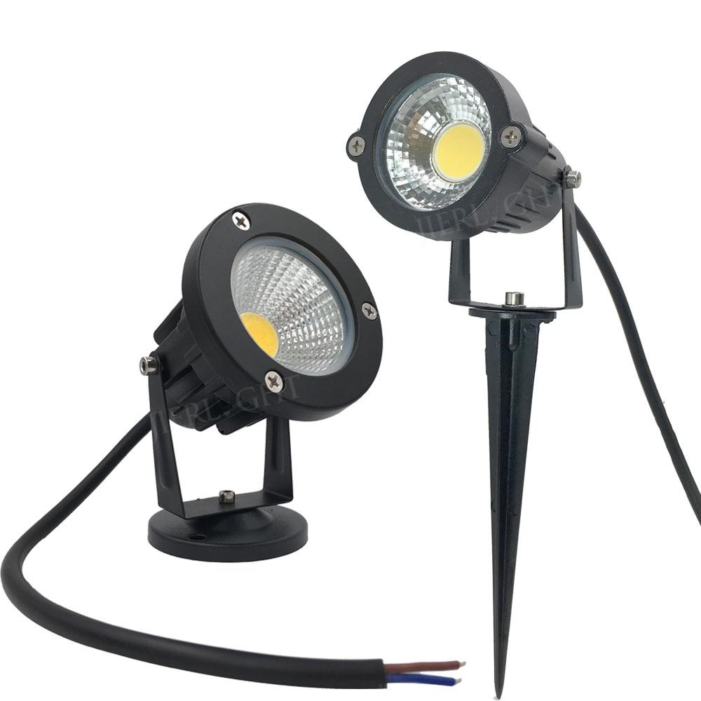 Spedizione gratuita Garden spot light led COB 3 W 5 W IP65 giardino esterno led spot luce 12 V 110 V 220 V led da giardino spike luce per il giardino