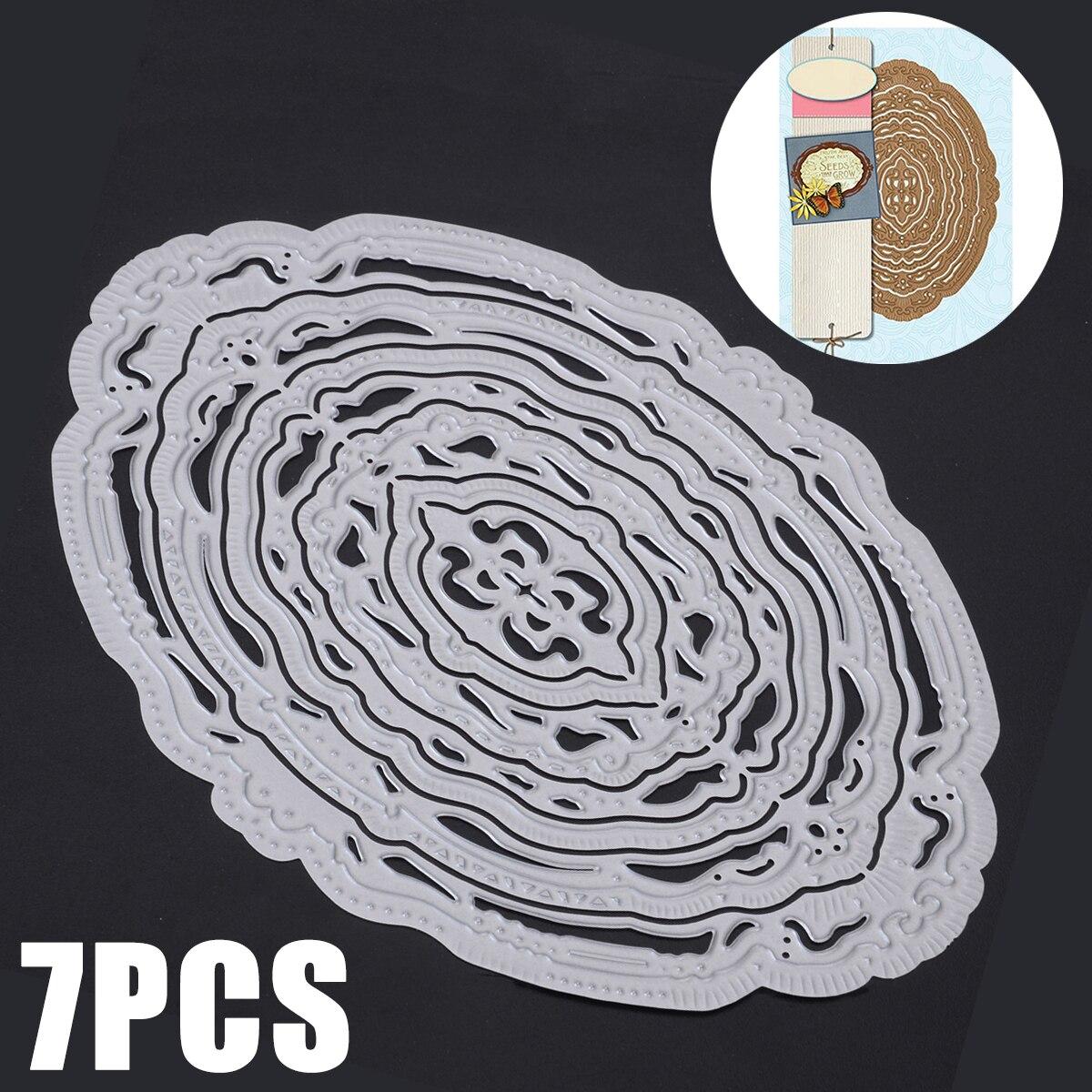 7pcs Oval Metal Cutting Dies for DIY Scrapbook Embossing Paper Card Making Embossing Stencil Making Embossing Stencil