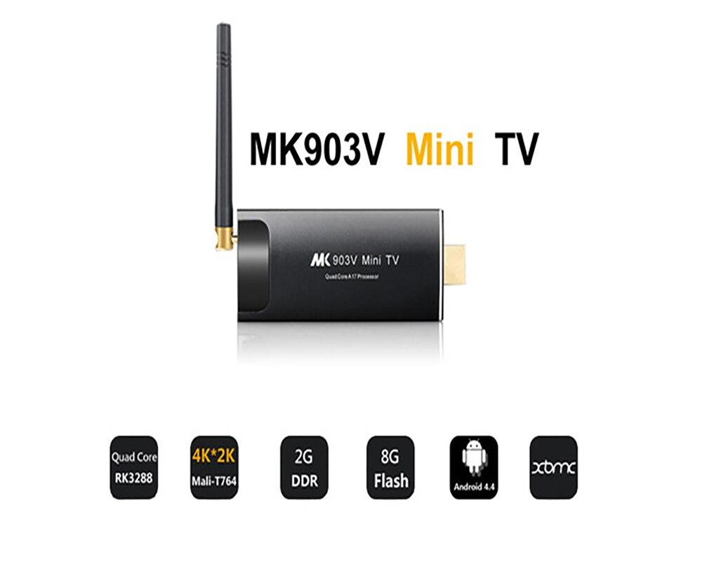MK903V RK3288 Quad Core Cortex A17 Android 5.1 Smart TV Bâton Mini PC HD 4 k HDMI WiFi H.264, h.265 BDMV, ISO, MKV Joueur Intelligent