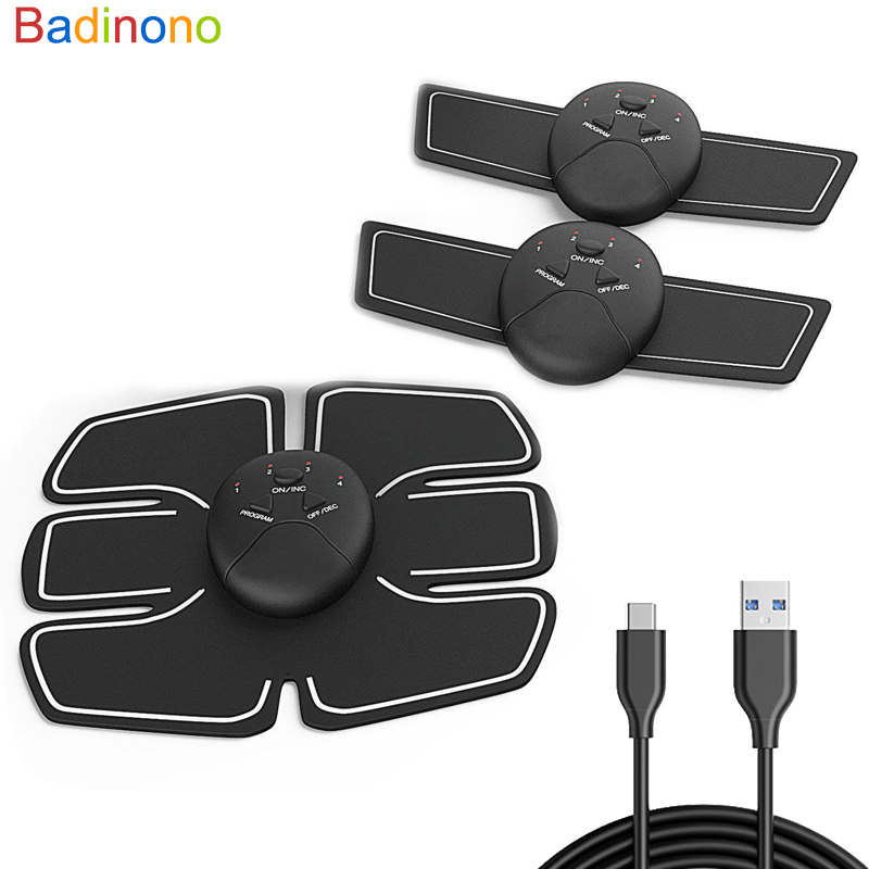Dropshipping USB Charger EMS Abdominal Muscle Stimulator Trainer Electric Cellulite Massager Body Shaping Massage Slim Belt Tool