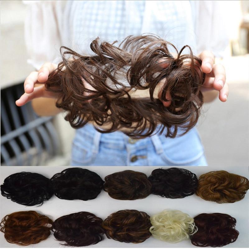 jeedou Curly Chignon Med Gummi Band Värmebeständighet Syntetisk - Syntetiskt hår - Foto 3