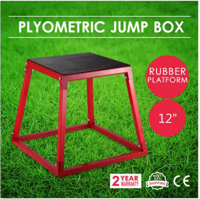 Plyometric Platform Box Exercise Jump Boxes Fitness Height Step Training 12 Red In Tool Parts From Tools On Aliexpress