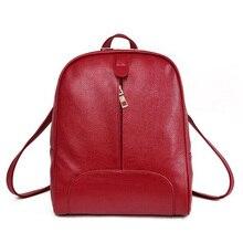 Новые 2017 реальный мягкие высокое качество женские кожаные рюкзак корейский стиль дамы ремень сумка для ноутбука ежедневно рюкзак для девочек школьная сумка