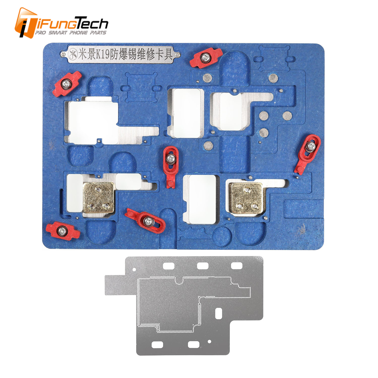 MJ K19 Motherboard PCB Holder Fixture Circuit Board PCB Holder for iPhone X cellphone repair Tool