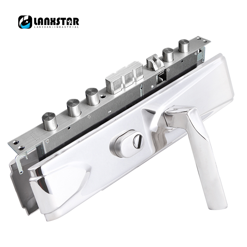 Entrance Door 304 Stainless Steel Mechanical Anti-theft Door Lock Keyed Boxlock Luxury Anti-theft Door Lock Handle Locks 304 stainless steel door handle lock anti theft door lock mute copper cylinder wood door stainless steel handle split locks