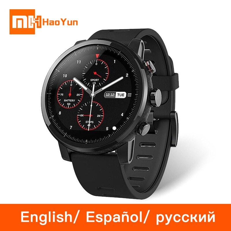 Globale Versione Xiaomi Huami Amazfit Stratos 2 Astuto Della Vigilanza di Sport GPS 5ATM Acqua 2.5D GPS Firstbeat Nuoto Smartwatch Inglese