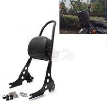 Мотоцикл съемный Сисси Бар пассажирская спинка черная сталь для Harley Sportster 1200 883 XL 04-UP