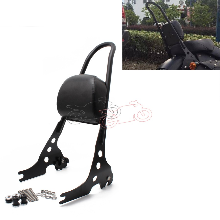 Motorcycle Detachable Sissy Bar Passenger Backrest Black Steel for Harley Sportster 1200 883 XL 04-UP