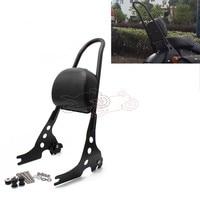 Motorcycle Detachable Sissy Bar Passenger Backrest Black Steel for Harley Sportster 1200 883 XL 04 UP
