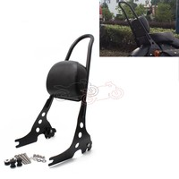 Motorcycle Detachable Sissy Bar Passenger Backrest Black Steel for Harley Sportster 1200 883 XL 04 UP