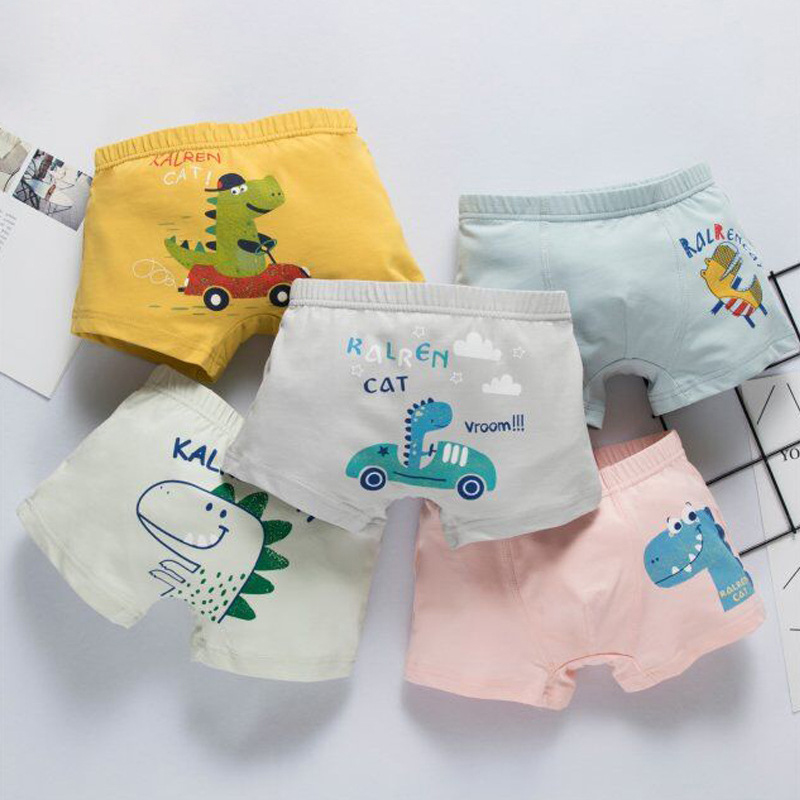 Boys Cartoon Underwear Panties Kids Animals Cartoon Printed Child Underwear Comics Boxers Briefs Panties For Boys 3 To 12 Years