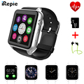 Irepie gt88 fashion square mtk2502c smart watch phone monitor de freqüência cardíaca de pulso smartwatch bluetooth para apple ios android