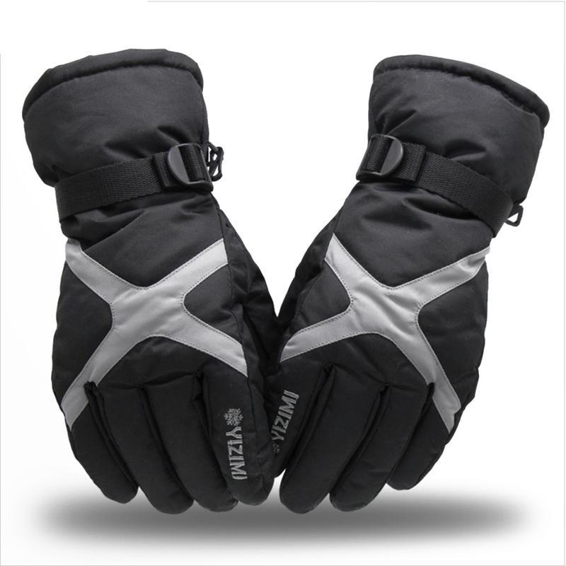 Universal Winter Snowing Plus Velvet Thickened Warm Motorcycle Waterproof Non-Slip Bicycle Electric Cotton Racing Gloves недорго, оригинальная цена