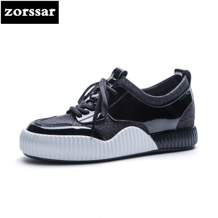 {Zorssar} 2018 NEW summer Women Sneakers Shoes Breathable For Women Fashion Lace-up Flat Casual Travel Shoes walking shoes instantarts pink cartoon shark print women lace up flat shoes fashion summer air mesh shoes breathable sneakers for woman lady