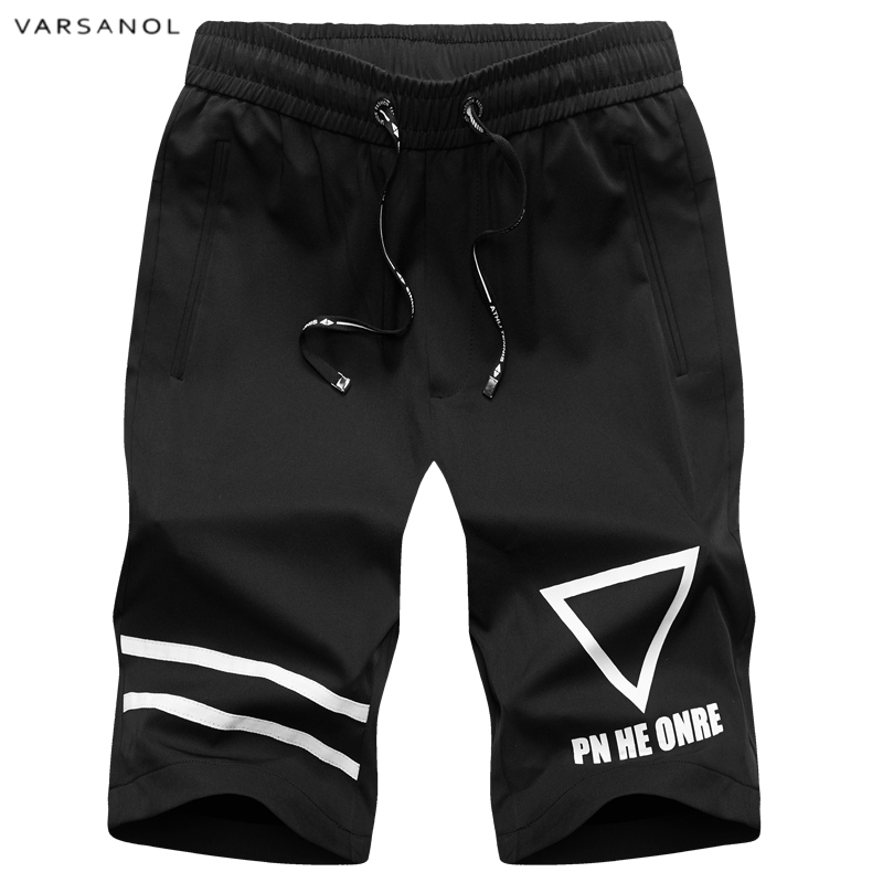 Varsanol Brand Clothing Casual Shorts Men Cotton Drawstring Solid Color Mid Short Pants Summer Male Shorts Beach shorts For Men