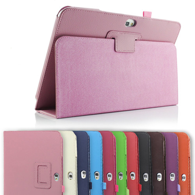 New 2-Folder Luxury Magnetic Folio Stand Leather Case Protective Cover For Samsung Galaxy Note 10.1 N8000 N8010 N8013 10.1 tablet case for samsung galaxy note 10 1 n8000 n8005 n8010 n8013 case cover couqe hulle funda shell custodie