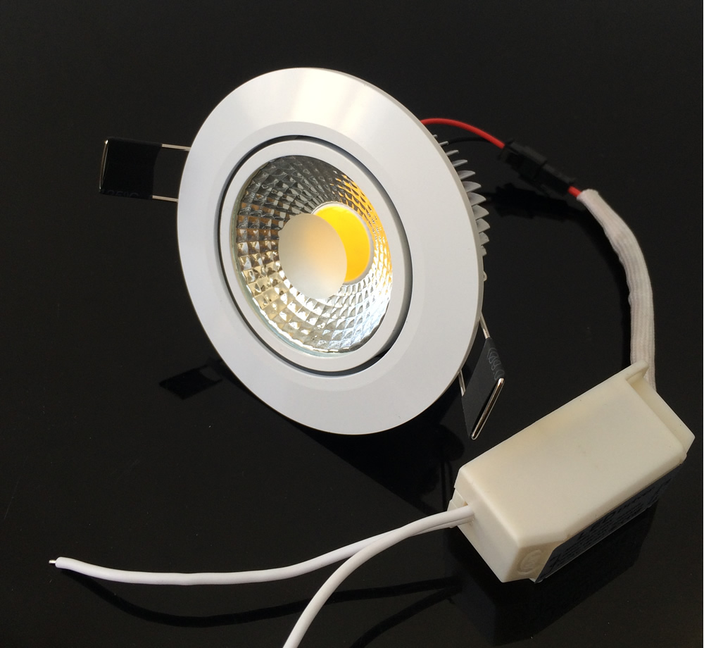 White Shell 7w 10w 12w Led Ceiling Downlight Dimmable Recessed Fitting How To Install Downlights Lights For Home Ac90 260v Warm Cold Driver Ul Ce In From