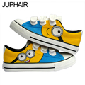 JUP 7 Styles Low Magic Despicable Me Minion Spongebob Puppies Fox MenHand Painted Flat Shoes Canvas Shoes for Men Males Girl Boy