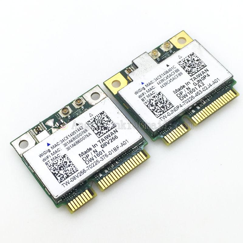 US $16 86 |WiGig DW1601 QCA9005 802 11AD Mini PCl E 7Gbps WiFi Card +  Bluetooth for Dell Wireless 6430u E5440 E6430 E7240 E7440 E5540-in Network  Cards