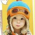 Venta caliente Los Niños Cool Boy Bebé Girl Infantil Invierno Piloto Casquillo Caliente Del Bebé Del Sombrero