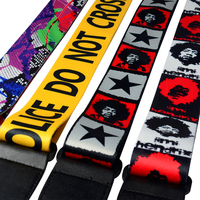 Polyester And Nylon Guitar Strap For Electric Bass Guitar Multi Color Guitar Belt
