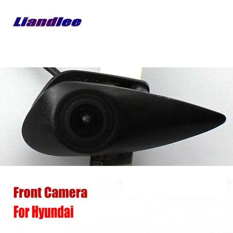 liandlee para hyundai tucson accent elantra auto cam vista frontal do carro logo camera embutida