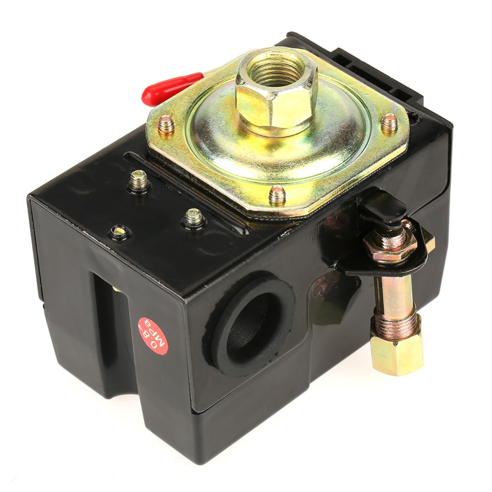 1 pcs Universal Pressure Switch 95-125 Psi For Air Compressor Pump Control Valve vertical type replacement part 1 port spdt air compressor pump pressure on off knob switch control valve 80 115 psi ac220 240v