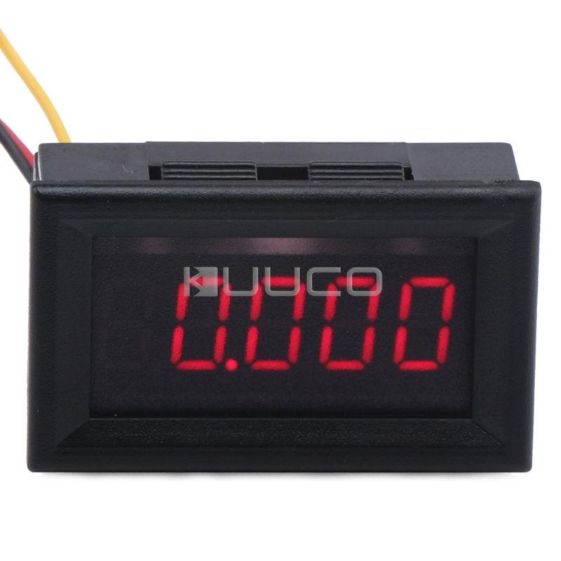 5 PCS/LOT 0.36 Red Led Display Digital Voltmeter DC 0~33.000V Voltage Meter DC 12V 24V Car Battery Tester Voltage Monitor Meter