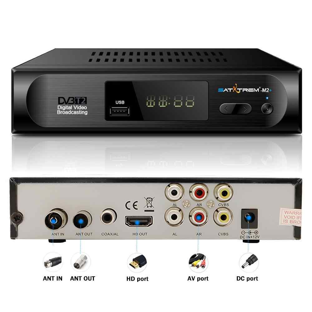 Satxtrem Präfix DVB-T2 M2 Plus TV Tuner DVBT2 DVB-T Tuner DVB T2 Vga Digital TV Box Wifi Empfänger Unterstützung AC3 PVR EPG Dual CVBS
