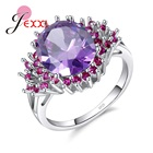 Oval Pink Rings Purp...