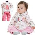 Anlencool Versión Coreana De Suéter Niñas Traje de Tres piezas de la Marca de la Ropa Del Bebé Ropa de La Muchacha Nuevo bebé primavera conjunto