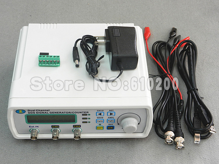 Free shipping High Precision Digital Dual-channel DDS Signal Generator Arbitrary waveform generator 200MSa/s 0-20MHz