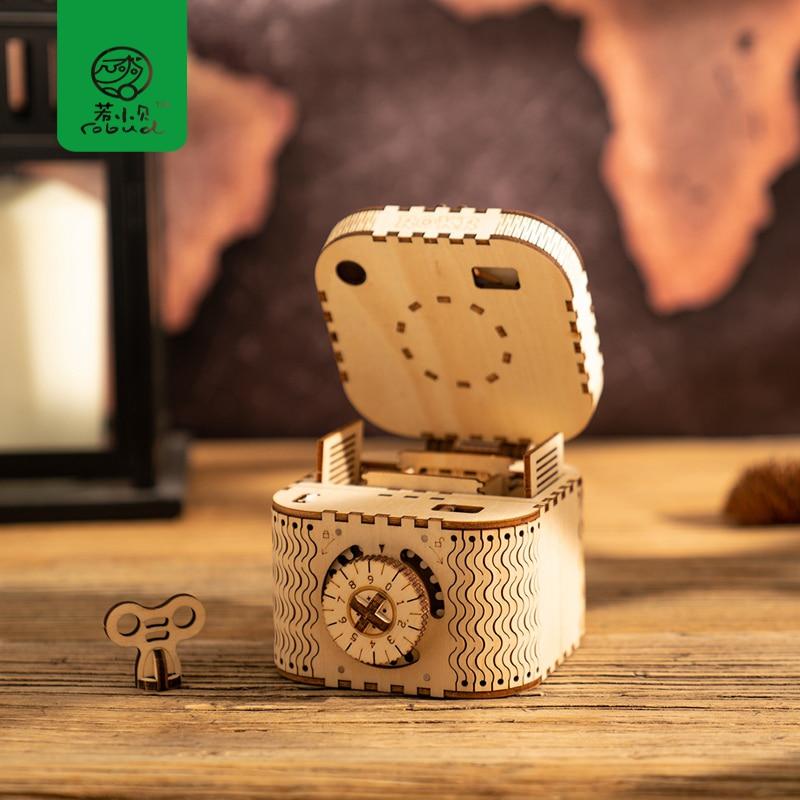 Robud DIY 3D Holz Modell Gebäude Kits Montage Modell Mechanische Spielzeug für Kinder Beste Geschenk für Junge & Mädchen LK für Dropshipping