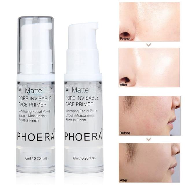 PHOERA 6/18ML Base Makeup Primer Oil Control Lasting Moisturizing Base Face Primer Skin Makeup More Docile TSLM1