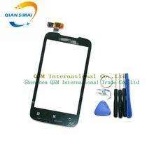 Цянь Симаи Новый Сенсорный экран планшета стеклянная панель и отвертка Инструменты для Lenovo A369 сотовый телефон