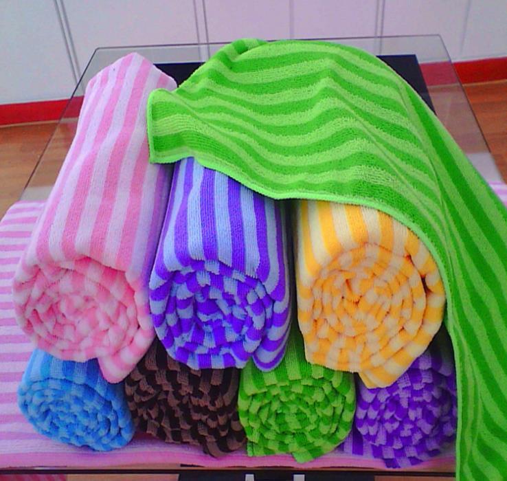 20 Pieces Wash Stripes Towel Beach Bath Shower Soft