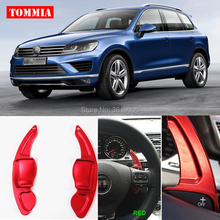 tommia 2pcs Steering Wheel Aluminum Shift Paddle Shifter Extension For VW Touareg 2011-2016 Car-styling