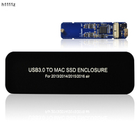H1111Z HDD Enclosure External HDD Case USB 3.0 M.2/M2 SSD Case Hard Drive Enclosure for Apple Macbook Pro 2013 2014 2015 2016Air