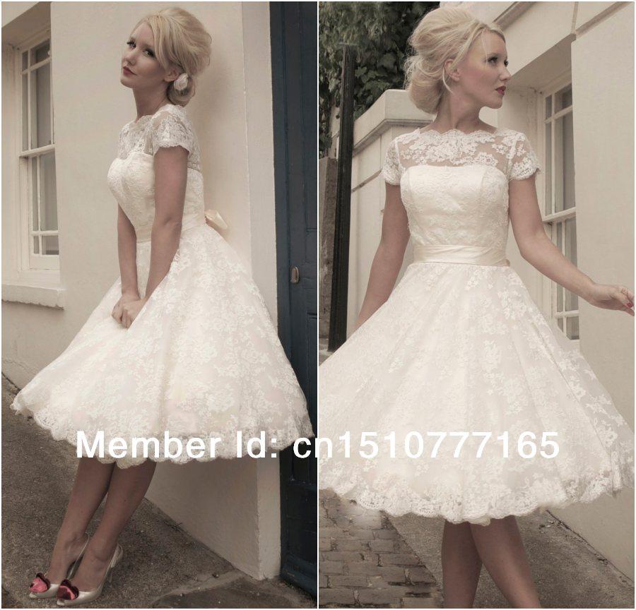 Open Back Vintage Wedding Dresses