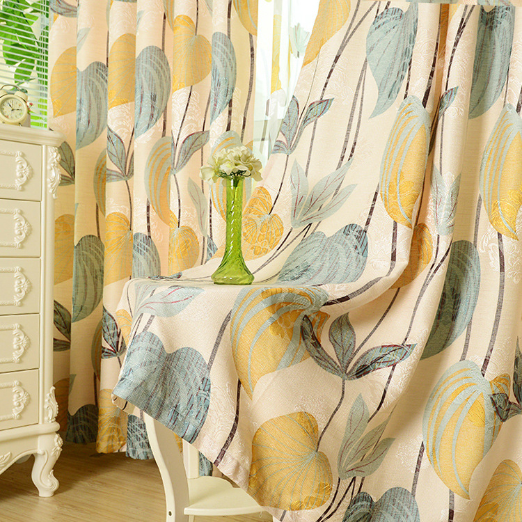 The Tropical Rain Forests Of Southeast Asian Style Thick Natural Cotton Printing Curtains For Living Dining Room Bedroom