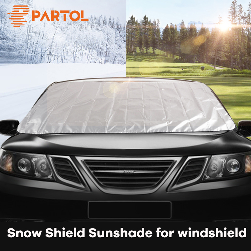 Partol 195*70cm Anti Snow Shield Car Covers Windshield Sun Shade Windscreen Cover Dust Protector Auto Front Window Screen Cover Лобовое стекло