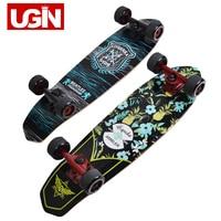 UGIN Freestyle Printing Street 28 inch Long Skate Board Complete Retro Graffiti Style Skateboard Cruiser Long Skateboards Maple