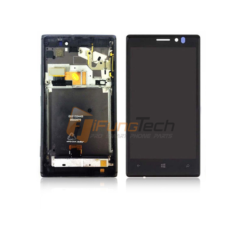 ФОТО 100% Original Replacement For Nokia Lumia 925 LCD Display Touch Screen Digitizer Assembly with Frame Free Shipping