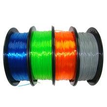 3D Printer Filament Flexible TPU 1.75mm 0.8kg 3d plastic consumables material for 3D Printer