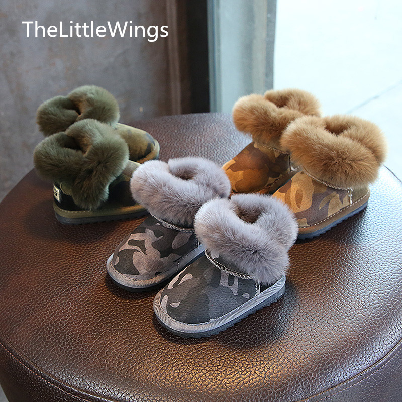 Systematisch Kostenloser Versand Baby Jungen Winter 2018 Neue Schuhe Fuß Wärmer Kinder Flache Kleinkind Schuhe Non-slip Kaninchen Der Haar Schnee Stiefel