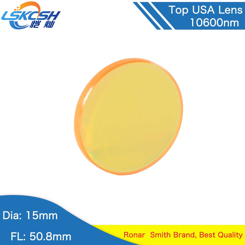 LSKCSH 15mm TOP quality USA CO2 laser focus lens Focal length 50.8mm Trotec speedy 100/GCC Co2 laser cutting/engraving machinesLSKCSH 15mm TOP quality USA CO2 laser focus lens Focal length 50.8mm Trotec speedy 100/GCC Co2 laser cutting/engraving machines