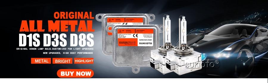 900  SUKIOTO Original OEM D8S Xenon HID Headlight Bulb Kit 55W D1S D3S Metal hid Ballast kit control Unit 5500K Car Styling hid bulbs