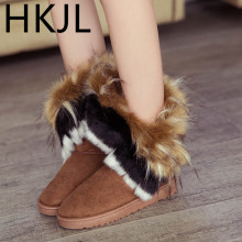 HKJL Shoes woman 2019 winter new boots in the artificial short plush snow Women\x27s Z030