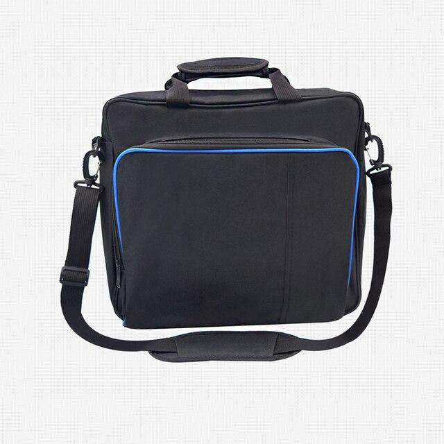 Per PS4 / PS4 Pro Sottile Gioco Sytem Sacchetto di formato Originale Per PlayStation 4 Console Proteggere Spalla Carry Bag Borsa caso Della tela di canapa 5